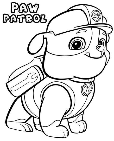 puppy patrol coloring page paw patrol coloring pages