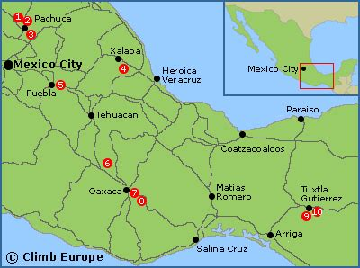 map of western mexico rock climbing sport climbing and bouldering in south