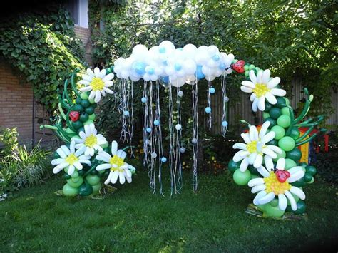 Rain cloud and flower balloon arch party themes and decor pinterest gardens rain clouds