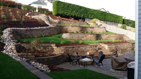 make an hillside beautiful with retaining walls