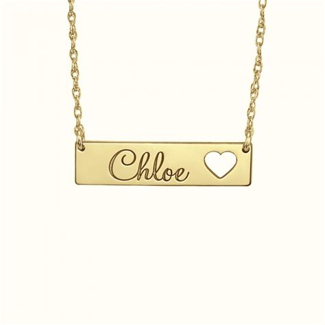 cutout name necklace 7x30mm personalized jewelry