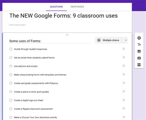 google forms tutorial for teachers ideas for using google forms in the classroom clif mims