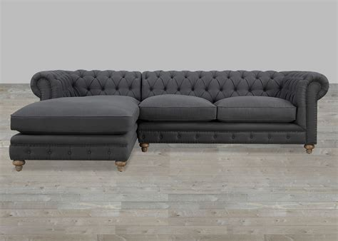 Gray Sectional Sofa Grey Tufted Sectional Sofa Smileydot Us