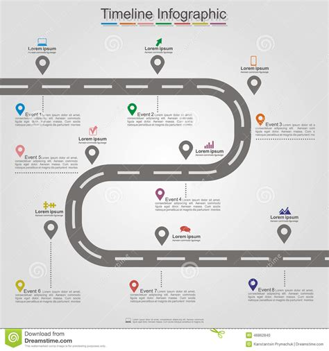 isotope layout event road infographic timeline element layout vector stock