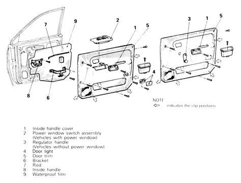 service manual how to remove door trimford 1993 service manual remove rear door trim 1993 plymouth colt vista remove rear door trim 1993