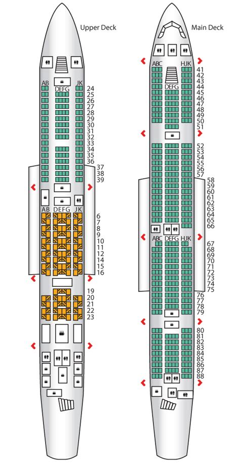 Emirates Seat Map | a380 config 3 two class emirates seat maps