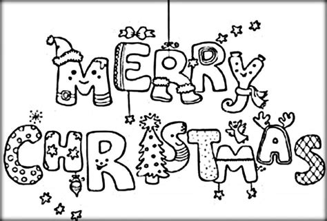 Merry Coloring Pages That Say Merry Merry Christmas Coloring Pages For Preschoolers Color Zini by Merry Coloring Pages That Say Merry