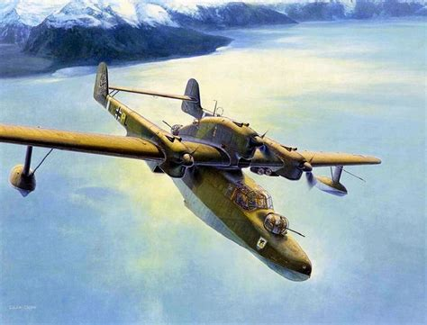 flying boat airplane blohm und voss bv 138 by shigeo koike 1000 classic