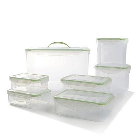 kinetic kinetic fresh 14 piece fresh food storage go fresh by kinetic 14 piece food storage set 8677500 hsn