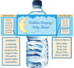personalized water bottle labels baby shower baby shower moon and custom