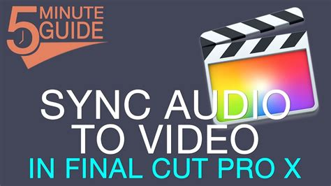 final cut pro not responding how to sync externally recorded audio to video in final