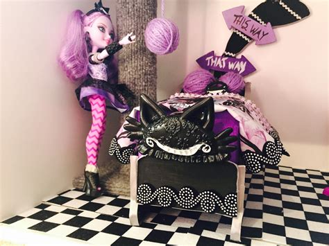 ever after high beds kitty cheshire doll bed remake ever after high youtube