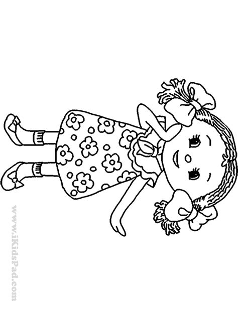 Coloring Pages Dolls Az Coloring Pages Doll Coloring Page