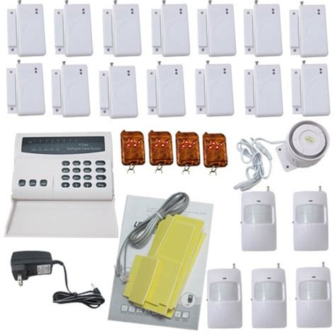 deals 8 zones wireless home security system led burglar