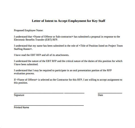 Letter Of Intent Posting Letter Of Intent For A 9 Free Documents In Pdf Word