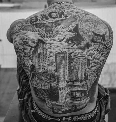 atlanta skyline tattoo designs 70 city skyline designs for downtown ink ideas