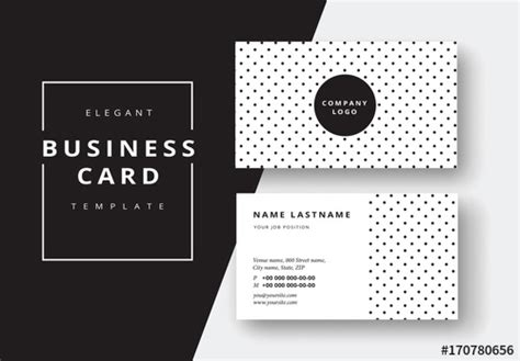 Business Card Template Adobe Stock by Polka Dot Business Card Layout Buy This Stock Template