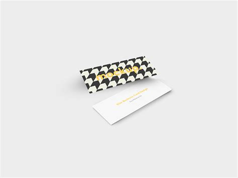 slim business card template slim business card mock up free on behance