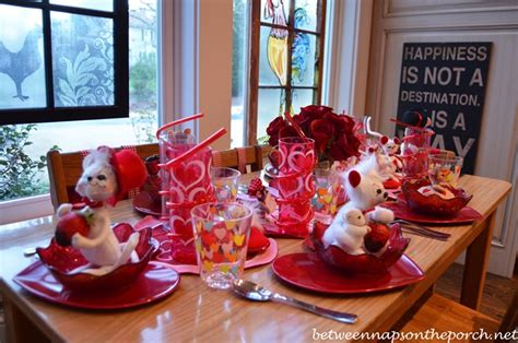 valentines day table children or kid s valentine s day table setting tablescape