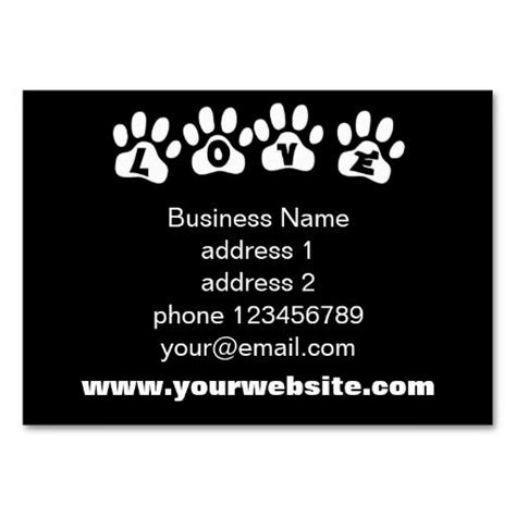 business card template pet care 234 best images about pet care business cards on