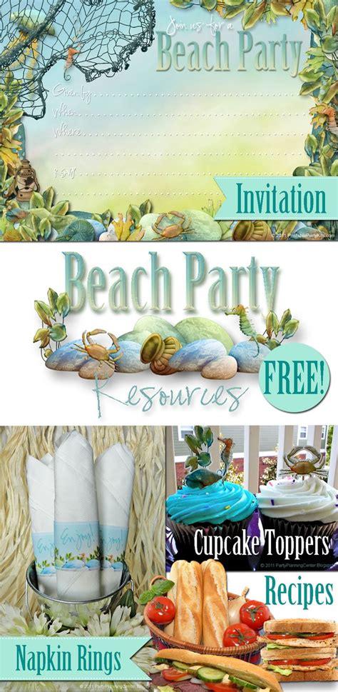 printable sandwich recipes free beach party printables and gourmet sandwich recipes