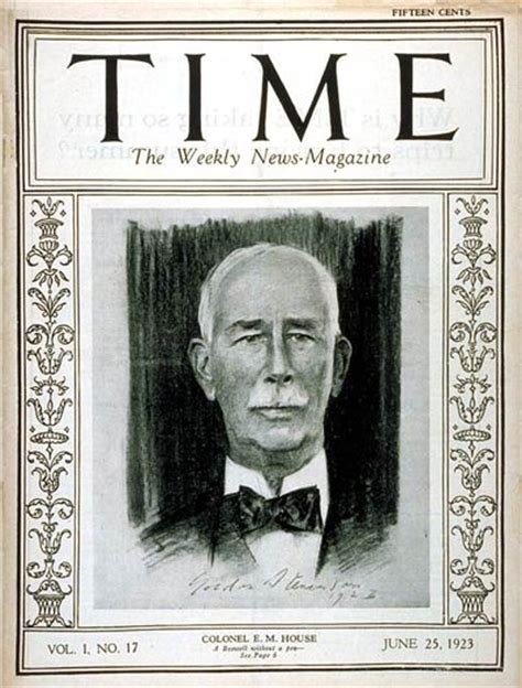 edward m house time magazine cover colonel edward m house june 25 1923 politics
