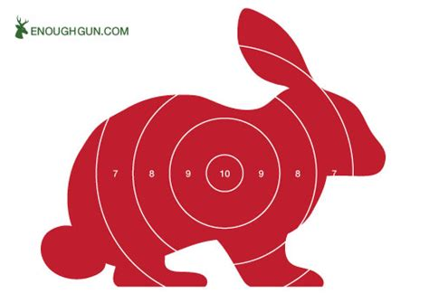 printable rabbit shooting targets shooting targets free to download and ready to print