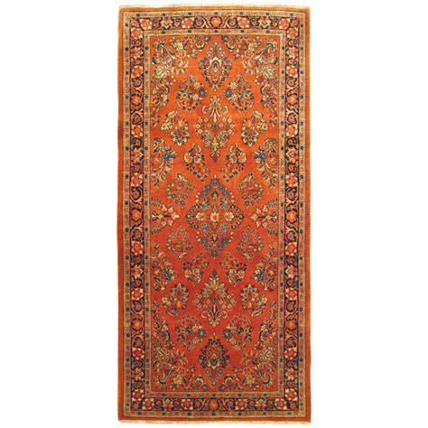 Small Runner Rug Vintage Sarouk Rug Small Runner Size With Traditional Colors For Sale At 1stdibs