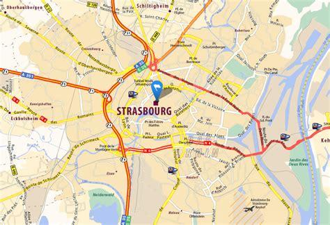 Strasbourg Plan by Strasbourg Carte Et Image Satellite