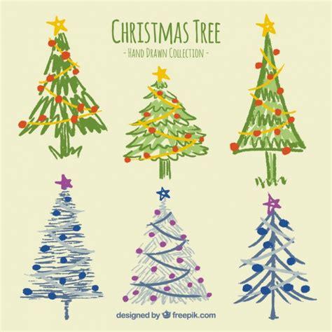 set de bonitos 225 rboles de navidad pintados a mano