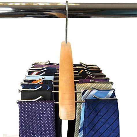 Tie Rack Target by Tie Rack Hanger Necktie Belt Scarf Wooden Hook Rotating Holder Closet Organizer Ebay