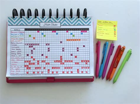 printable habit tracker bullet journal 100 things to put in your habit tracker of your planner or