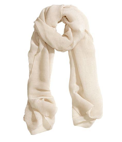 Scarf M lyst h m pleated scarf in