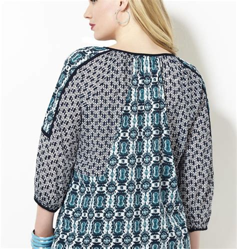 mixed patterns mixed pattern peasant blouse from avenue