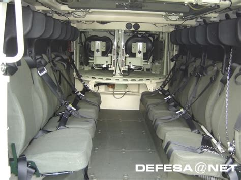 armored vehicles inside interior of italian army freccia infantry fighting vehicle