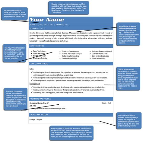 Resume Structure by How To Structure A Resume Great Infromation On Current