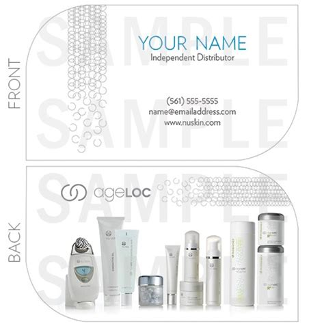 nu skin business card template nu skin business card choice image business card template