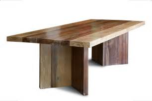 Dining Table Wood Types Reclaimed Wood Dining Table Made With Large Planks Of A Combination Of Hardwood Species