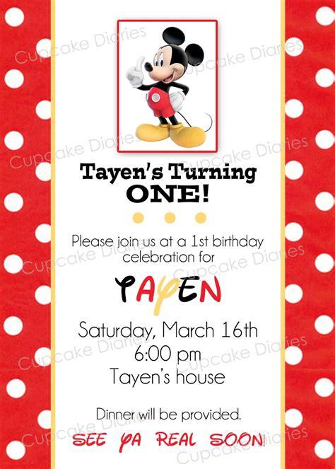 mickey mouse 1st birthday invitations ideas bagvania free