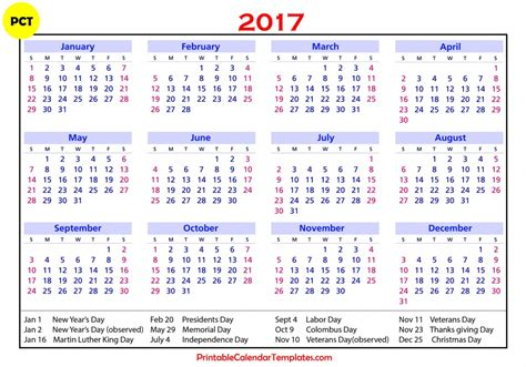 2017 Monthly Calendar With Holidays 2017 Calendar With Holidays Monthly Calendar 2017