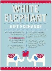 Pics photos fun white elephant gift exchange party invitations you