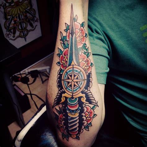 rose dagger tattoo dagger images designs