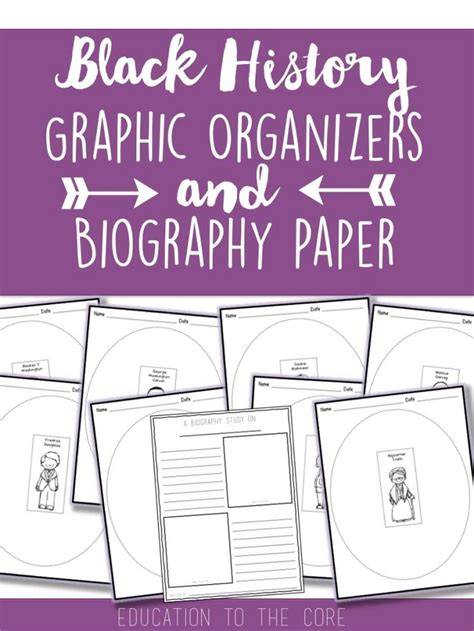 black history month biography graphic organizer 17 best ideas about black history month on pinterest