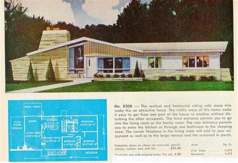 garlinghouse home plans garlinghouse plan no 8308 mid century house mid