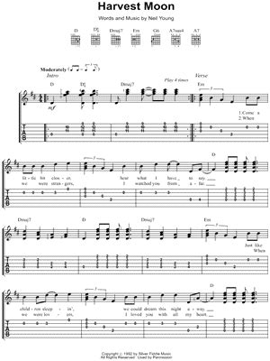 Neil Young Harvest Moon Guitar Chords