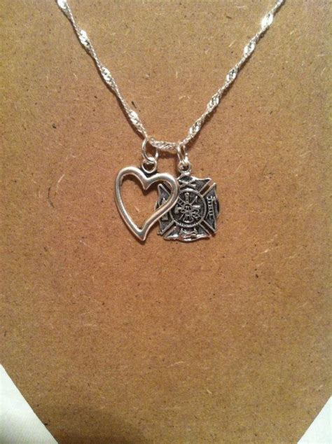firefighter jewelry firefighter necklace silver necklace
