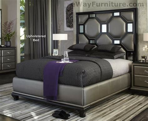 black onyx upholstered queen bed master