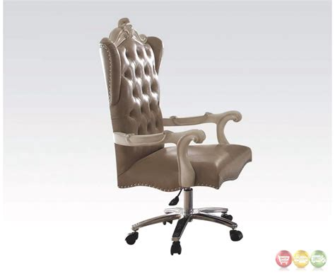 tufted swivel desk chair versailles bone white leather tufted lift and swivel