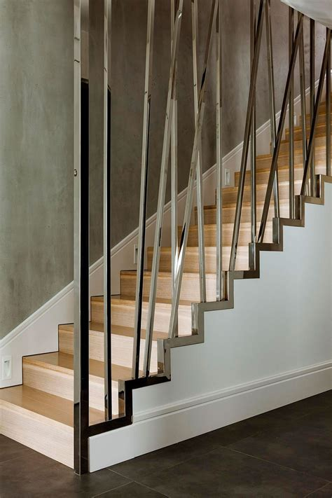 Modern Stair Banister jur 225 nyi l 233 pcső on railings modern staircase and modern stairs