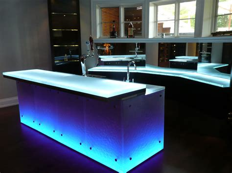 glass bar tops glass bar top contemporary kitchen countertops